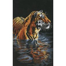 Набор для вышивания крестом Dimensions Купающийся тигр (35222)