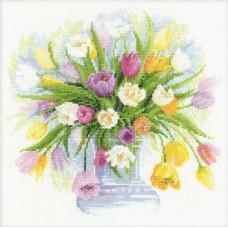 Акварельные тюльпаны (100/008)*