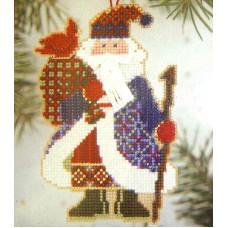 Набор для вышивания Mill Hill Санта с птичкой (MHAS15)