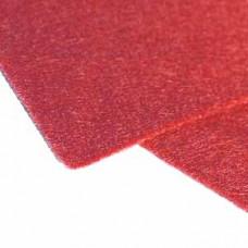 Фетр (войлок) листовой, 30,48 х 45,71, красный