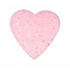 Сердце из фетра, большое, розовое с блёстками