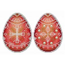 Набор для вышивания крестом М.П.Cтудия Алая писанка (Р-169)