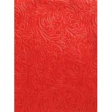 Фетр (войлок) листовой с эмбоссингом (барокко), 30 х 23, красный