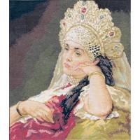 Набор для вышивания крестом Panna Девушка в жемчужном ожерелье (ВХ-904)