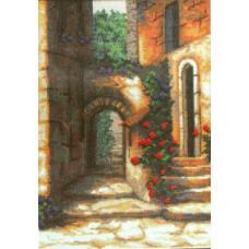 Набор для вышивания крестиком Чарівна мить Дворик с розами (454)