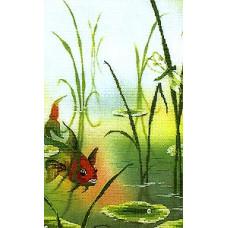 Набор для вышивания крестиком Чарівна мить Золотая рыбка (РК-018)
