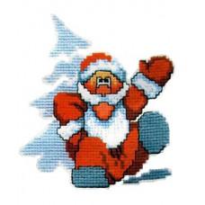 Набор для вышивания крестиком Чарівна мить Дед Мороз (250)