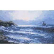 Набор для вышивания крестиком Чарівна мить Синее море (380)