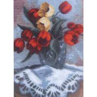 Набор для вышивания крестиком Чарівна мить Весенний букет (541)