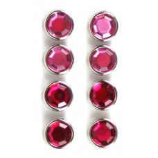Брадсы большие кристальные Розовый тон (D86-PNK)