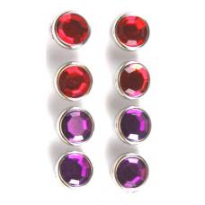Брадсы большие кристальные Красные и Сиреневые (D86-RP)