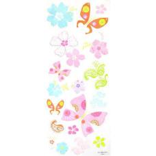 Наклейки Тропические бабочки с блёстками (193474)