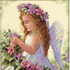 Набор для вышивания крестом Dimensions Цветочный ангел (35229)