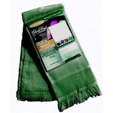 Велюровое полотенце тёмно-зелёное (VT6910 4145)