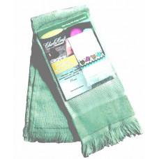 Велюровое полотенце цвета морской волны (VT6910 4691)