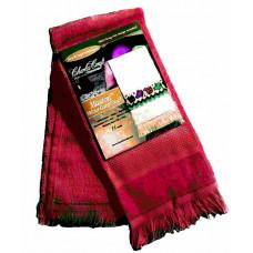 Велюровое полотенце ярко-красное (VT6910 2450)