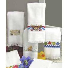 Велюровое полотенце белое (VT6910 6750)