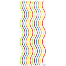 Наклейки Разноцветные волны (964668)