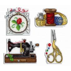 Набор для вышивания крестом М.П.Cтудия Рукодельные магниты (Р-339)
