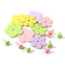 Набор Кожаные цветы и брадсы Пастельные (LF01-А/980201)