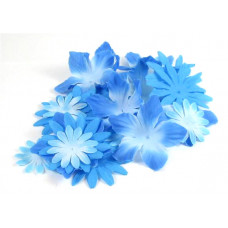 Шёлковые цветы Голубые (SF01-BLU/980375)