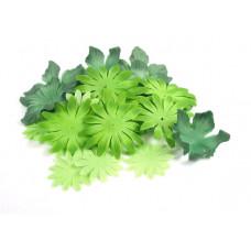 Шёлковые цветы Зелёные (SF01-GRN/980417)