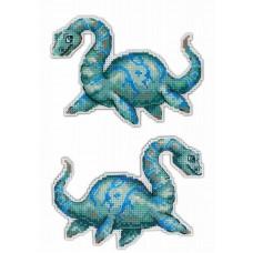 Набор для вышивания крестом М.П.Cтудия Динозавры. Плезиозавр (Р-301)