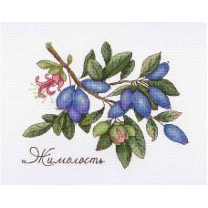 Набор для вышивания крестом М.П.Cтудия Дары природы. Жимолость (НВ-648)