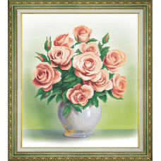 Набор для вышивания бисером Чарівна мить Кремовые розы (Б-761)