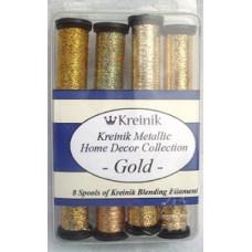 Набор металлизированных нитей Kreinik Gold (B4012)