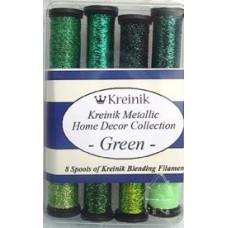 Набор металлизированных нитей Kreinik Green (B4014)