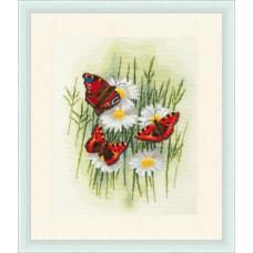 Набор для вышивания крестиком Золотое руно Волшебные бабочки (БР-020)