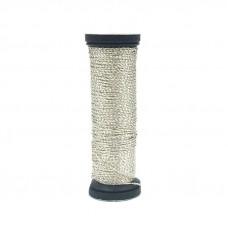 Металлизированная нить Kreinik Metallic Cable, Silver (001P)