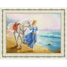 Набор для вышивания крестиком Золотое руно Рассвет у моря (ЧМ-063)