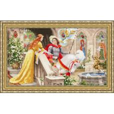 Набор для вышивания крестиком Золотое руно Рыцарь на белом коне (ЧМ-068)