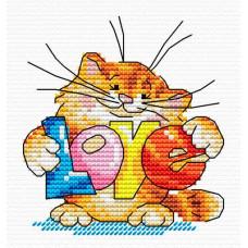 Набор для вышивания крестом М.П.Cтудия Подарю тебе любовь (М-037)