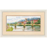 Набор для вышивания крестиком Золотое руно Мост Понте-алле-Грацие, Флоренция (ДЛ-037)