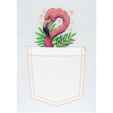 Набор для вышивания крестом М.П.Cтудия Розовый фламинго (В-248)