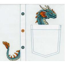 Набор для вышивания крестом М.П.Cтудия Благородный дракон (В-252)