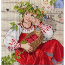 Набор для вышивания крестом М.П.Cтудия Летняя красавица (НВ-600)