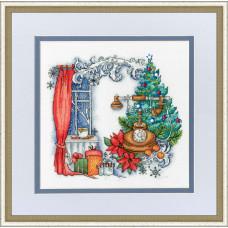 Набор для вышивания крестиком Золотое руно Зима на проводе (КП-006)