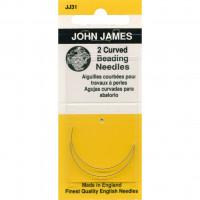 Иглы John James изогнутые для бисера (JJ31)