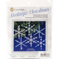 Набор для создания украшений Solid Oak Голубые снежинки (NCHBOK 004)
