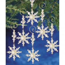 Набор для создания елочных украшений Снежные кристалы (BOK 7332)