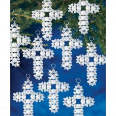 Набор для создания елочных украшений Жемчужные крестики (BOK 7443)