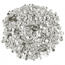 Пайетки Cousin Sequins Cupped Silver 5мм (SQU40000 867)