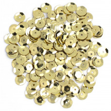 Пайетки Cousin Sequins Cupped Gold 8мм (SQU40000 874)