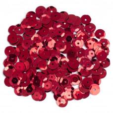 Пайетки красные Cousin Cupped Sequins 8mm 200/Pkg (1004430)