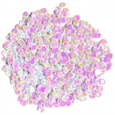 Пайетки Cousin White Iridescent, Cupped Sequins 5mm 800/Pkg (1004317)