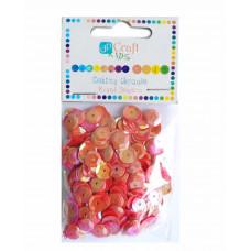 Пайетки круглые красные Dalprint Plus, 10 гр (KSCE-008)